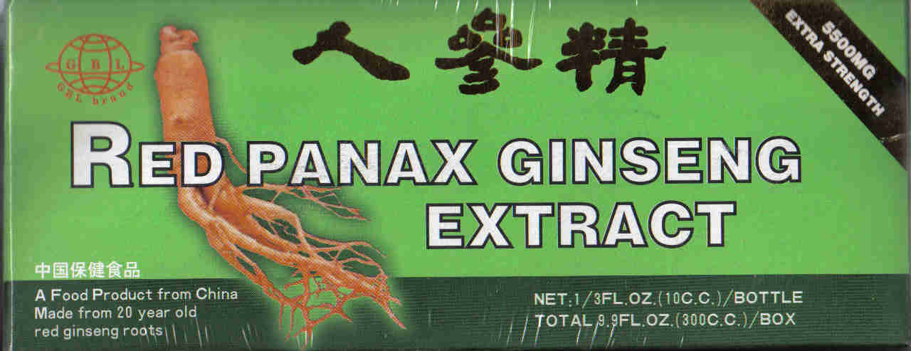 Red Panax Ginseng Extract 5500mg (30 Vials)