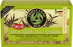 Decaf & Green Tea w/ Ginseng *(20 Tea Bags)